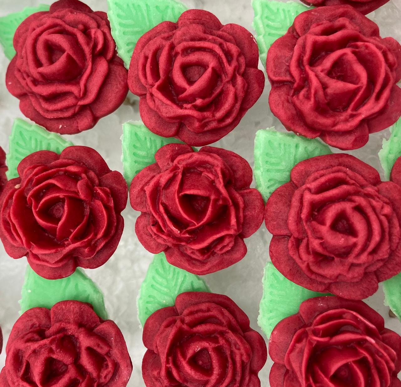 Rosas Rojo Burdeo